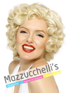 Parrucca Marilyn Bionda Anni 60-70 carnevale-halloween-festa a tema