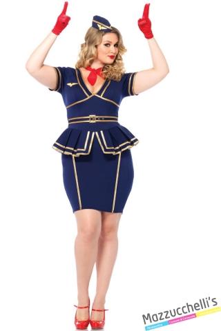 costume curvy hostess lavori mestieri carnevale halloween o altre feste a tema - Mazzucchellis