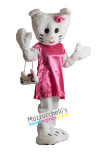 Costume Travestimento Mascotte Cartone Hello Kitty