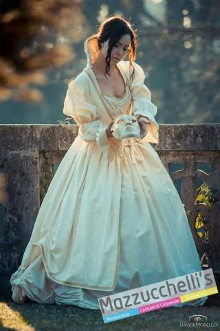 costume dama lusso bianco renee abito 700 800 - Mazzucchelli's