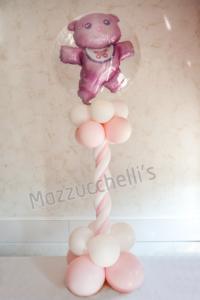 colonna BABY SHOWER ROSA nascita - Mazzucchellis
