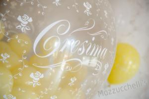 COMPOSIZIONE Colonna di palloncini CRESIMA - Mazzucchellis