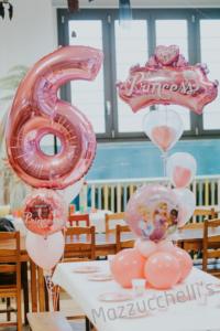 Bouquet composizione buon compleanno 6 Anni happy birthday princess - Mazzucchellis
