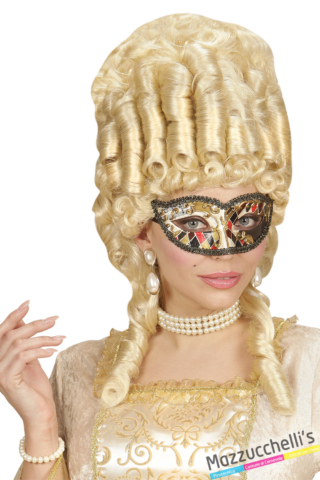 maschera arlecchino veneziano carnevale halloween feste a tema - Mazzucchellis