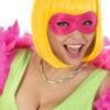 MASCHERA FLUORESCENTE COLORI ASSORTITI verde, giallo, arancione e fuxia Carnevale Halloween feste a tema- Mazzucchellis