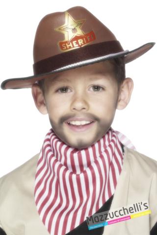 CAPPELLO sheriff COWBOY MARRONE bambino - Mazzucchellis