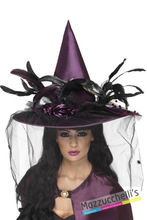 CAPPELLO STREGA Viola halloween - Mazzucchellis