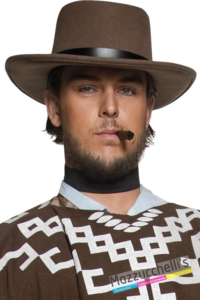 CAPPELLO COW BOY wild west MARRONE adulto - Mazzucchellis