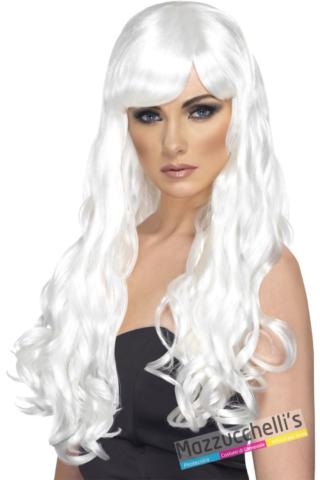parrucca bianca mossa lunga - Mazzucchellis