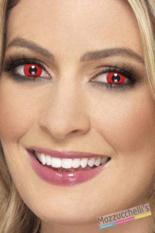 lenti a contatto rosso diavolo Carnevale halloween e altre feste a tema- Mazzucchellis