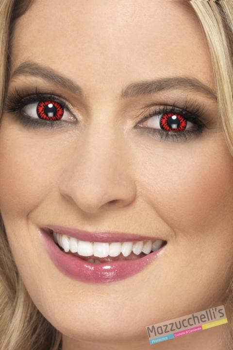 lenti a contatto rosse da lupo Carnevale halloween e altre feste a tema- Mazzucchellis