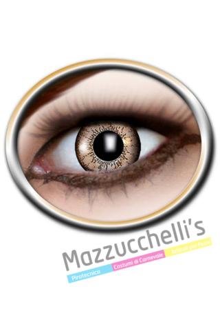 LENTI a contatto brown marroni 12 MESI carnevale halloween e altre feste a tema - Mazzucchellis