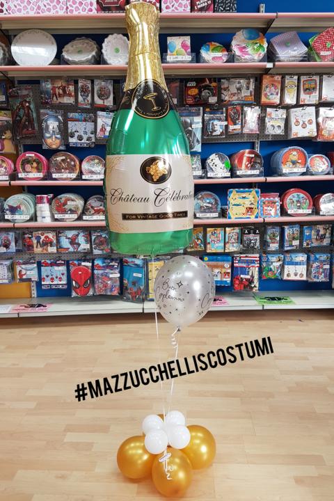 bouquet champagne buon compleanno - Mazzucchellis