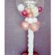 colonna con bubble rosa e bianchi buon compleanno alice - Mazzucchellis