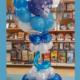 centrotavola Bubble palloncino bianchi blu e azzurri buon compleanno - Mazzucchellis