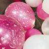 centrotavola bubble cresima rosa - Mazzucchellis