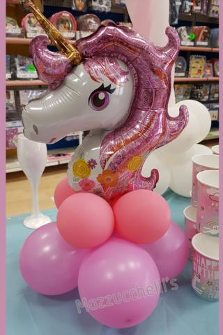 centrotavola unicorno compleanno - Mazzucchellis