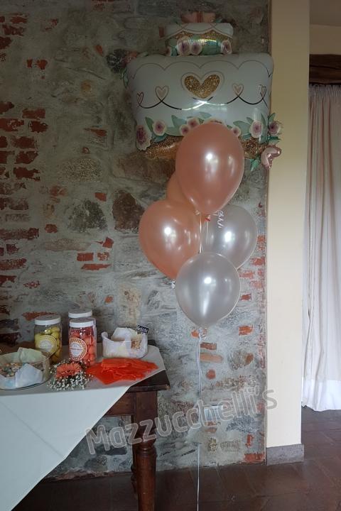 bouquet composizione palloncini torta sposi matrimonio - Mazzucchellis