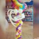 composizione colonna unicorno colorato compleanno - Mazzucchellis