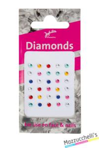 Diamanti autoadesivi per la pelle, in diversi colori carnevale halloween feste a tema - Mazzucchellis
