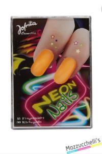 unghie neon arancioni anni '80 carnevale halloween feste a tema - Mazzucchellis