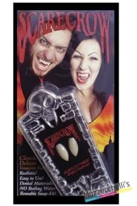 denti deluxe bianchi vampiro horror halloween carnevale feste a tema - Mazzucchellis