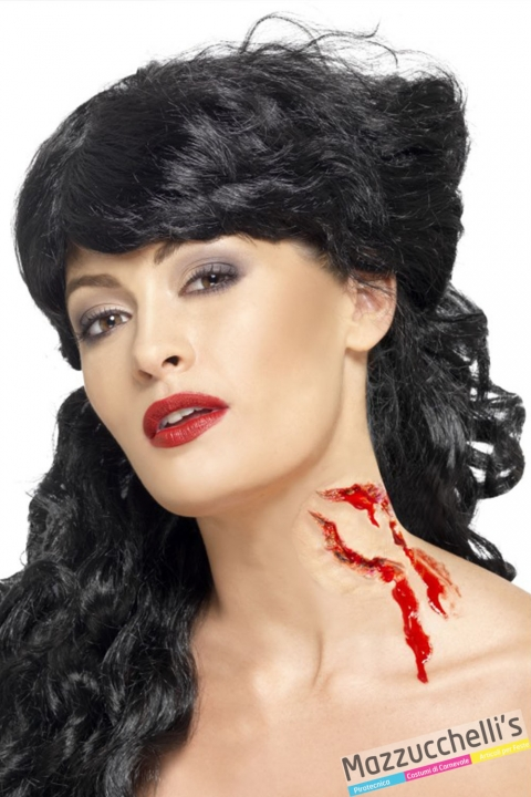 cicatrice morso mutante horror halloween, carnevale feste a tema - Mazzucchellis