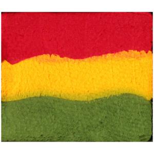 ACQUA-COLOR SPLIT CAKE rasta rosso, giallo, verde trucco professionale eulenspiegel carnevale halloween altre feste a tema - Mazzucchellis
