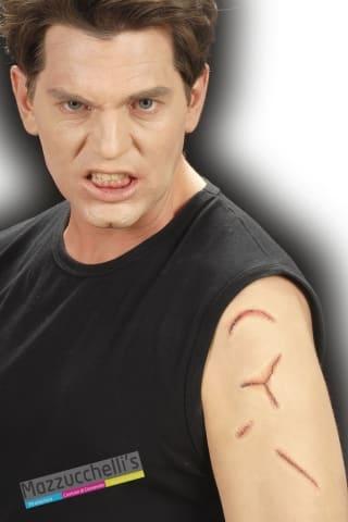 posticci EFFETTI SPECIALI cicatrice ferite horror - CON colla horror haloween carnevale feste a tema - Mazzucchellis
