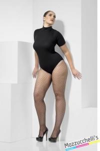 calze collant a rete nere curvy sexy carnevale halloween o altre feste a tema - Mazzucchellis