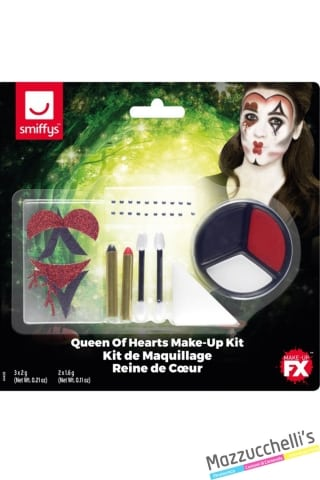 kit make-up queen of hearts halloween carnevale feste a tema - Mazzucchellis