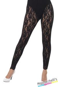 calze leggings anni 80 madonna a rete carnevale Halloween o altre feste a tema - Mazzucchellis