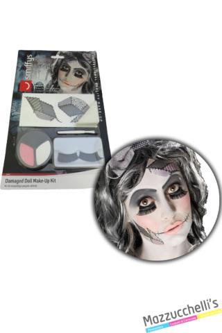 trucco MAKE-UP doll BAMBOLA zombie halloween carnevale halloween atre feste a tema - Mazzucchellis