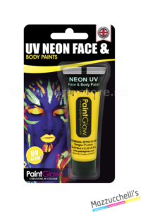 trucco make-up giallo uv neon face e body paints carnevale halloween e feste a tema - Mazzucchellis