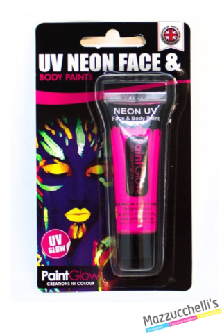 trucco make-up rosa uv neon face e body paints carnevale halloween e feste a tema - Mazzucchellis