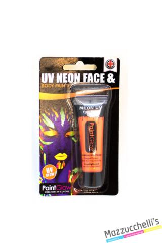 trucco make-up arancio uv neon face e body paints carnevale halloween e feste a tema - Mazzucchellis