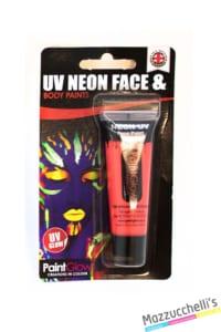 trucco make-up rosso uv neon face e body paints carnevale halloween e feste a tema - Mazzucchellis