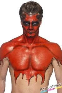 make-up trucco lattice rosso red carnevale halloween feste a tema - Mazzucchellis