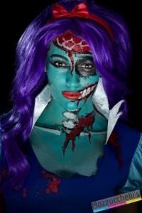 make-up trucco lattice azzurro turchese carnevale halloween feste a tema - Mazzucchellis