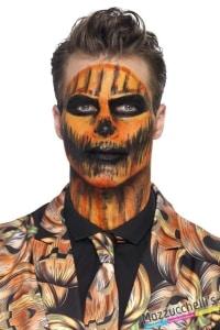 make-up trucco lattice arancio turchese carnevale halloween feste a tema - Mazzucchellis