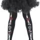 collant calze bambina giorno della morte day of the dead 4-9anni carnevale halloween e altre feste a tema - Mazzucchellis