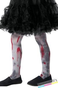 calze collant zombie 4-9 anni carnevale halloween o altre feste a tema - Mazzucchellis