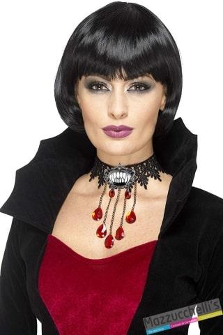collana gotica vampira vamp halloween carnevale o altre feste a tema - Mazzucchellis
