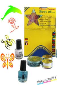 kit tatuaggi glitter carnevale halloween e altre feste a tema - Mazzucchellis