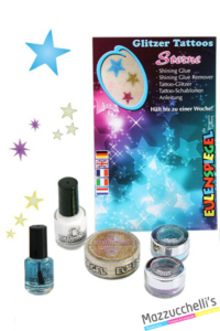 kit tatuaggi glitter stelle carnevale halloween e altre feste a tema - Mazzucchellis