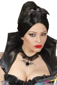 MOLLETTE per capelli PIPISTRELLO NERO vampira o strega halloween carnevale o altre feste a tema - Mazzucchellis