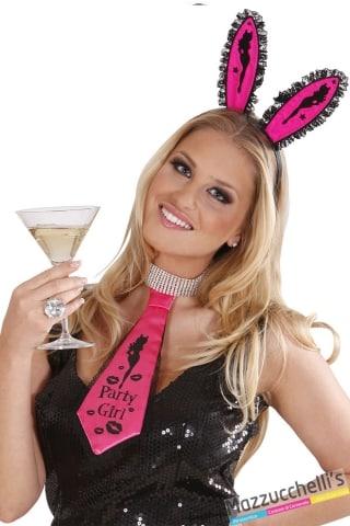 cravatta party girl addio nubilato carnevale halloween e altre feste a tema - Mazzucchellis