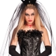 Cerchietto Corona con Velo sposa cadavere halloween horror - Mazzucchellis