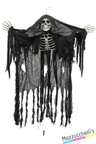 addobbo scheletro fantasma con luce carnevale halloween o altre feste a tema - Mazzucchellis