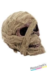 allestimento teschio mummia 20cm horror halloween o altre feste a tema - Mazzucchellis